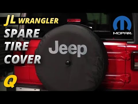 Mopar Spare Tire Cover for 2018 Jeep Wrangler JL with 32