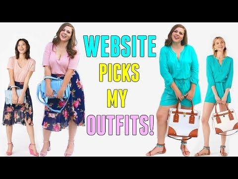 I Let a Website Choose My Outfits for a Week! Dress My Curvy Body!