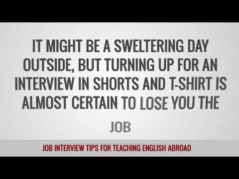 video with some tips how to make the best out of your job interview