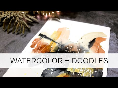 easy abstract technique: doodling with masking fluid