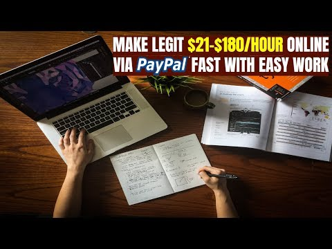 Make Legit $21-$180/Hour Online via PayPal with Easy Work