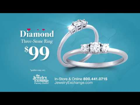 The Jewelry Exchange | Diamond Three Stone Ring $99