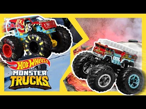 BIGFOOT vs the Abominable Snowman!!! ☃️ | Monster Trucks Tournament of Titans | @Hot Wheels