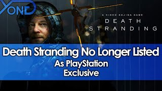 Death Stranding No Longer Listed As PlayStation Exclusive