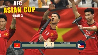 PES19 | ASIAN CUP | VIETNAM vs PHILIPPINES - Thử thách bóng đá dùng đội hình thấp nhât 1m55 (17/2 )