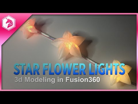 LEARN: StarFlower Light 3d Modeling in Fusion360 @adafruit #adafruit