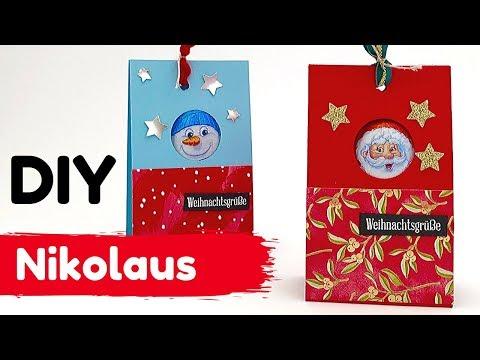 DIY--Nikolaus Verpackung--Last Minute --ratz fatz gebastelt