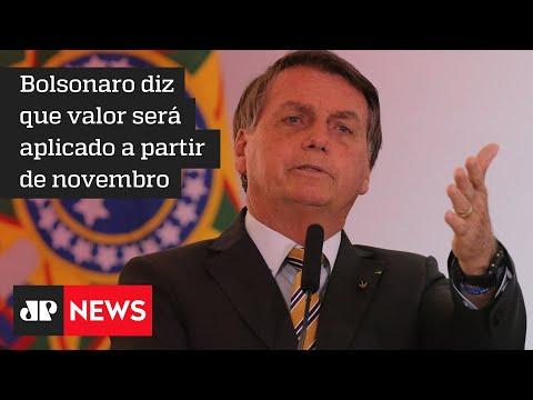 Novo Bolsa Família será de 'no mínimo 300 reais', afirma Jair Bolsonaro