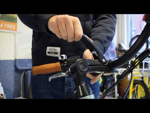 How to adjust handlebars