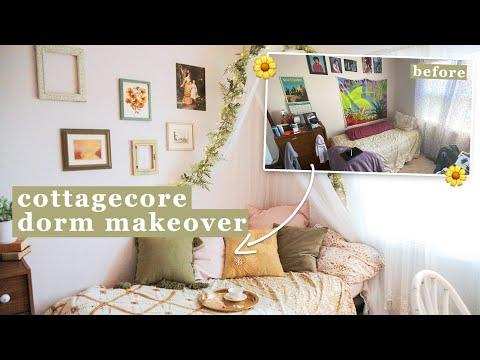thrifted cottagecore dorm room makeover ✨