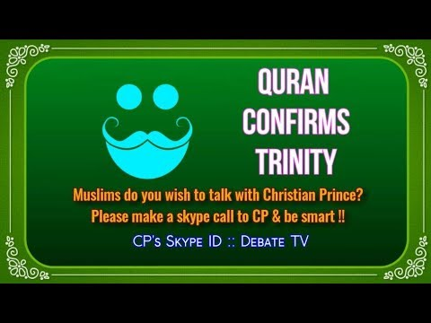 Muslim Trinity in Quran exposed !! Christian Prince Live chat