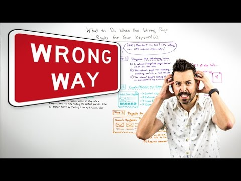 What to Do When the Wrong Page Ranks for Your Keyword(s) - Whiteboard Friday