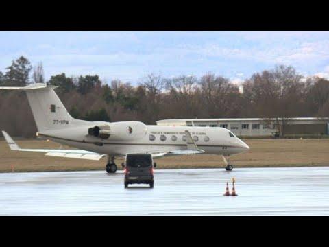 Plane believed to be carrying Algerian president leaves Geneva