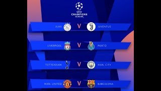 My Champions League Quarter Final Predictions
