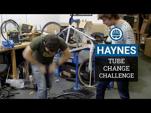 "How Fast Can You Change An Inner Tube"" - BikeRadar Vs. Haynes"