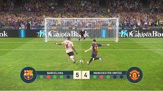 FC Barcelona vs Manchester United   Penalty Shootout   UEFA Champions League - UCL   PES19