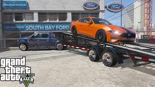 GTA 5 Real Life Mod #182 Ford Dealership Delivering A 2019 Ford Mustang GT To A Customer