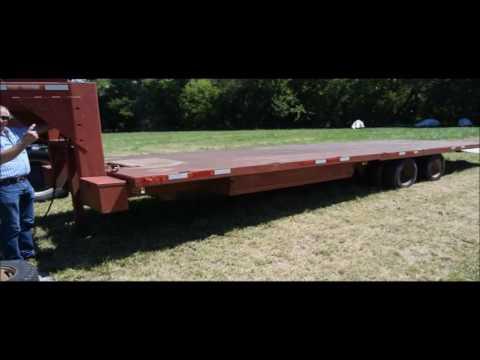 1985 Gold Nugget 400-28 tilt deck trailer for sale | no-reserve Internet auction September 28, 2016
