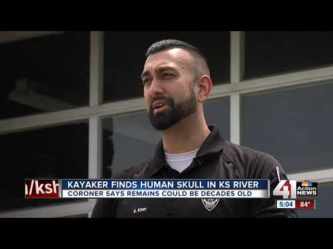 Kayaker discovers skull near Kansas River; likely been in river for decades