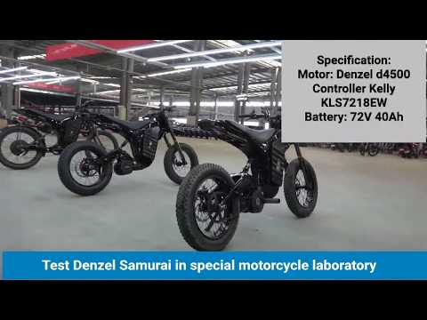 Test Denzel Samurai in special motorcycle laboratory