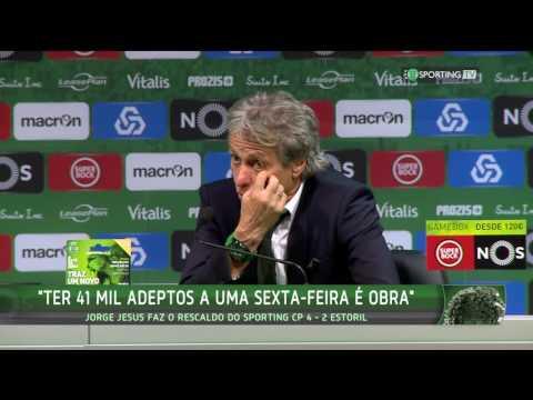 Conferência Jorge Jesus- Pós-Jogo- Sporting CP 4 X Estoril Praia 2