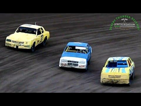 Desert Thunder Raceway IMCA Hobby Stock Main Event 6/25/21 - dirt track racing video image
