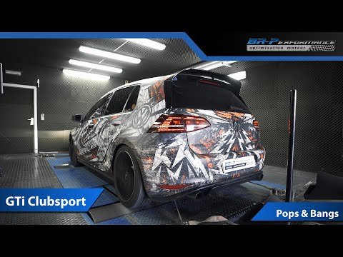 VW Golf GTi Clubsport Pops & Bangs By BR-Performance