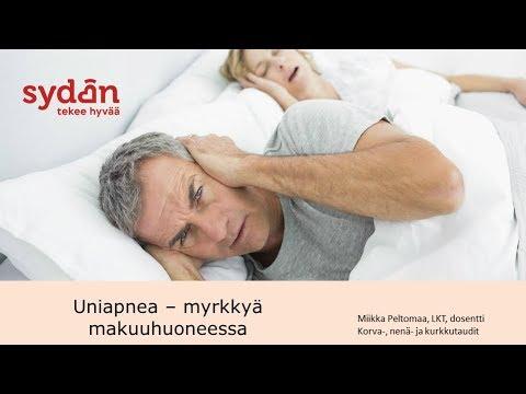 Mikä on uniapnea? Oireet ja hoito. Katso uniapneawebinaari.