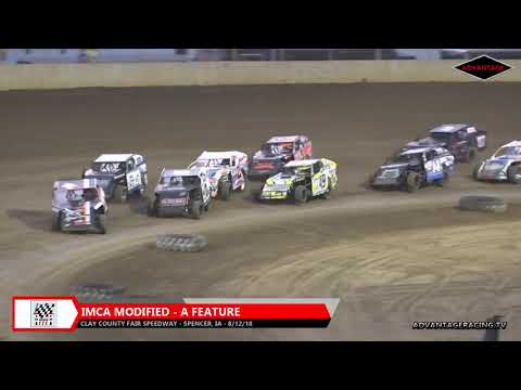 IMCA Modified racing is in full tilt at the Clay County Fair Speedway as these drivers look to crown a champion on the season.  You can see this event and MORE at www.advantageracing.tv - dirt track racing video image