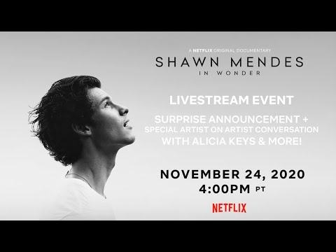 Shawn Mendes: In Wonder LIVE! Surprise Announcement, Conversation with Alicia Keys & More | Netflix