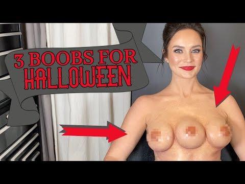 How I Did My Halloween Costume! Three-Breasted GRWM