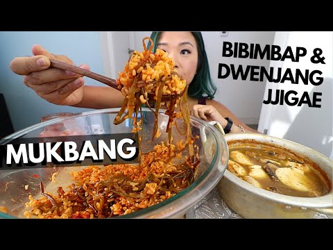 KOREAN COMFORT FOOD MUKBANG (VEGAN) // Munching Mondays Ep.70