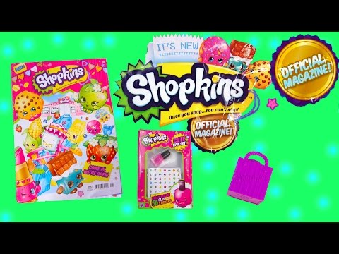 Shopkins Official MAGAZINE Season 1 & 2 Surprise Mystery Blind Bag Nail Polish Stickers Toy Video - UCelMeixAOTs2OQAAi9wU8-g