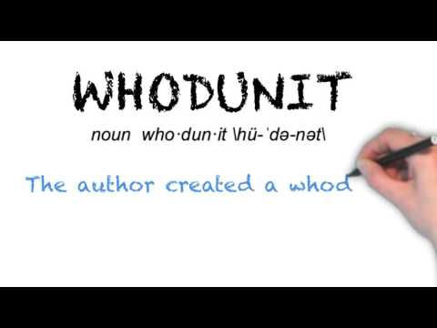 How to Pronounce 'WHODUNIT'- English Grammar