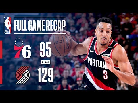 Full Game Recap: 76ers vs Trail Blazers | McCollum's Hot Shooting Leads POR