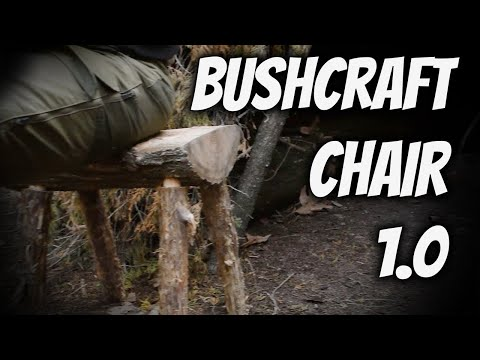 Bushcraft Chair Tutorial 1.0- Woodcrafting a Stool