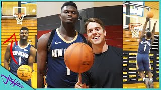 Challenging NBA PLAYERS to Trick Shot H.O.R.S.E.! *Zion Williamson, RJ Barrett, Bol Bol*