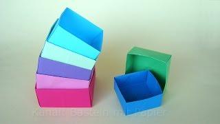 Origami Box Basteln Mit Papier Schachtel Falten Basteln Ideen
