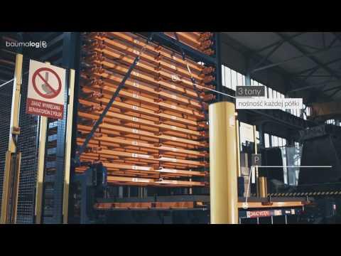Automatyczny system składowania blach stalowych - TwinTower - film krótki z opisami