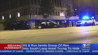 Suspects Flee Inside Marriott Marquis Hotel After Crashing Stolen Car In South Loop