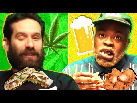 Drunk Vs. High Snack Swap