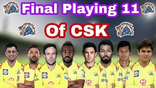 IPL2020 CSK Full And Final Playing 11 In 2020