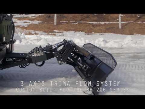 BV206 snow plow system