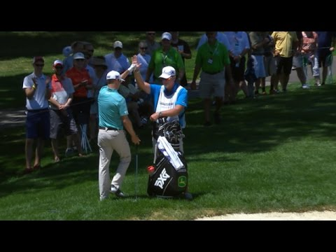 Zach Johnson?s wonderful sand save for birdie at Bridgestone