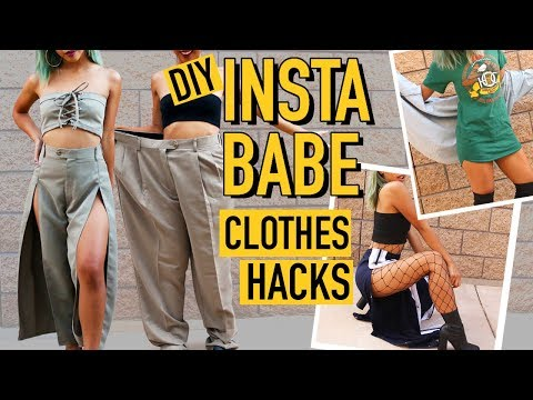 DIY MENS CLOTHES TO INSTAGRAM BADDIE CLOTHING HACKS! | Nava Rose