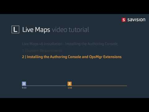 Live Maps - Installing the Authoring Console Part 1