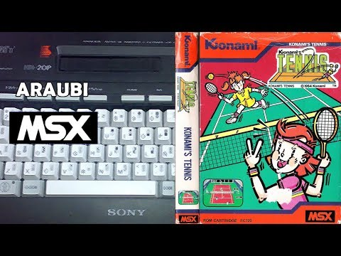Konami's Tennis (Konami, 1984) MSX [096-II] 2P con Jordi Alba Walkthrough Comentado