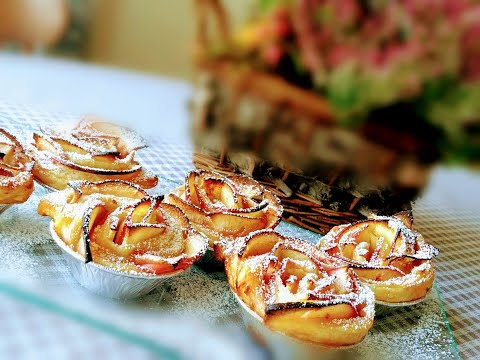 Ябълкови рози с многолистно тесто. Италианска кухня.