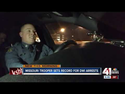 Trooper in Jackson County continues to lead Missouri in number of DWI arrests