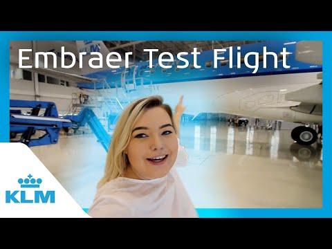 KLM Intern On A Mission - Embraer Test Flight